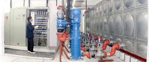 变频高速器,控制电路及电机泵组构成闭环控制系统,可以满足恒压及变压